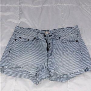 J Crew Denim Pinstripe Shorts